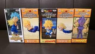 日版金貼 龍珠 Dragonball WCF World Collectible Figure Battles of Saiyans, Saiyans Bravery, 30th Anniversary 悟空 比達 goku vegeta vegito