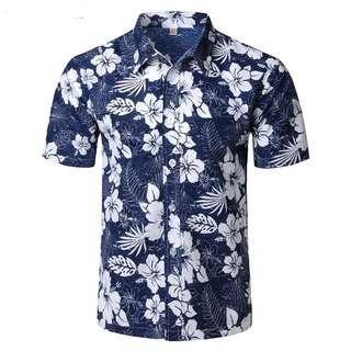 Hawaiian shirts men's casual short sleeve Hawaii shirts