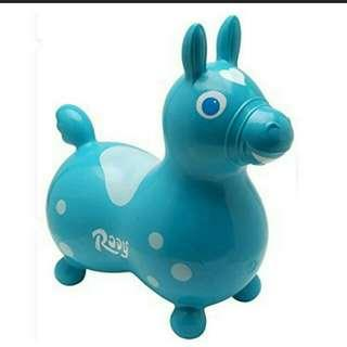 全新Rody 淺藍色跳跳馬 意大利製 Teal Light Blue Made In Italy New