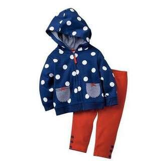 Brand new with tags childrens fleece lined set