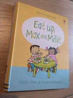 Usborne Toddler book Eat up Max and Mollie board book