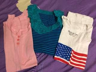 Sleeveless tops $2 each only