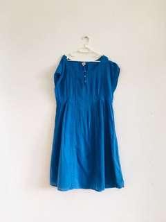 8 to 10 years old Zara royal blue cotton dress