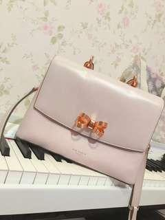 Authentic Ted Baker pinky ribbon bag