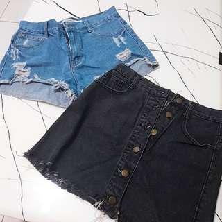 🚚 牛仔短褲/裙