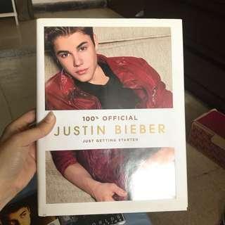 Buku justin bieber Just getting started 100% official original