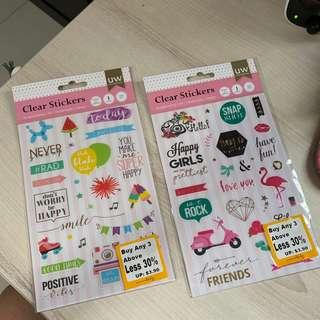 Clear Scrapbooking Stickers