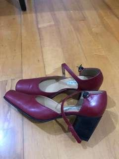 紅色(磚紅色)女裝高跟鞋