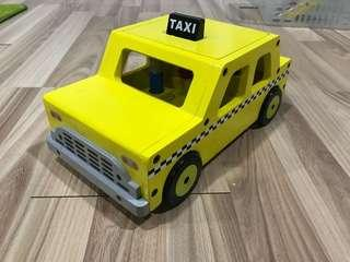 Wooden NYC Taxi