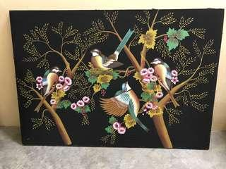 Oriental intricate canvas painting