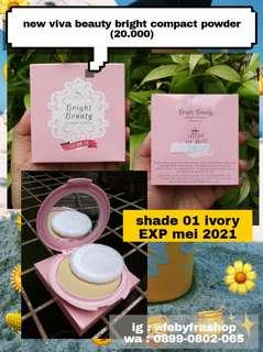 #bersihbersih Viva bright beauty compact powder shade 01 ivory