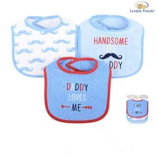 Luvable Friends 3 pcs Baby Drool Bibs - Daddy Love Me IBY01733