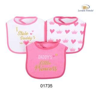 Luvable Friends 3 pcs Baby Drool Bibs - Daddy Little Princess