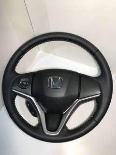 Nappa leather steering wheel wrap for Honda city , hrv , Vezel , shuttle , grace