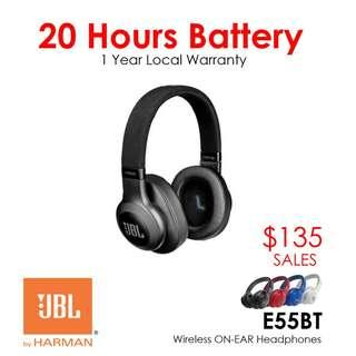 JBL E55BT Wireless On-Ear Headphones