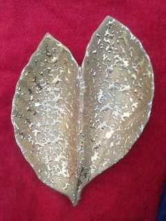 Vintage Hand Decorated 2 Leaf Candy Dish
