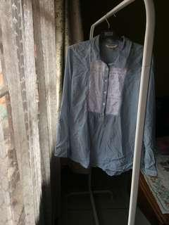 Blouse baby blue made in indonesia Wardrobe