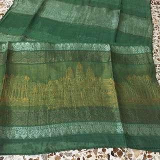 Green scarf shawl