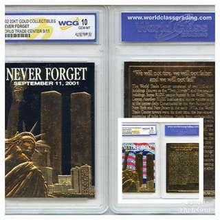 2002 23 KT Gold Collection World Trade Center Graded WCG 10 GEM