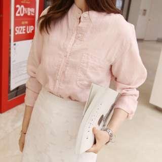 🚚 Pink Button-Up Shirt