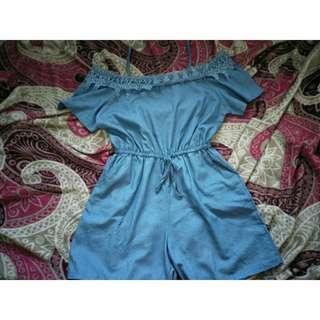Romper Short (Blue)