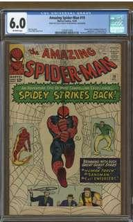 """Amazing Spider-man #19 CGC 6.0 """"Pedigree Collection"""" (1964 1st Series) Script By Stan Lee, Artwork By Steve Ditko- The All-Time Original Creators of Spider-man! Ain't Nothing Greater & More Vintage Than That! Nuff Said!!"""