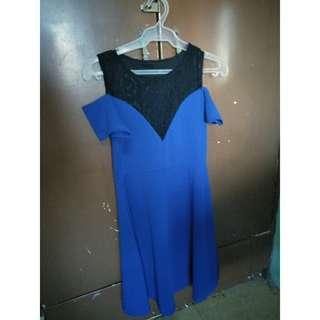 Off-Shouldered Dress (Dark Blue)