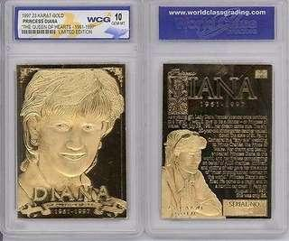 """1997 23 KT Gold Princess Diana """"The Queen of Hearts"""" 1961-1997"""