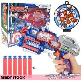 Captain America Soft Bullet Gun Toy Playset