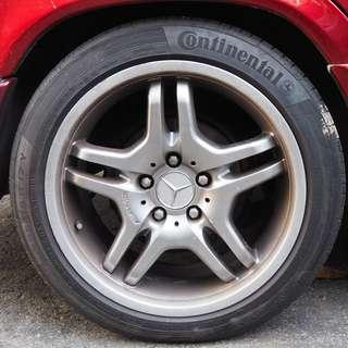 MERCEDES W124 W209 SPORT AMG RIMS WITH TYRES  17''