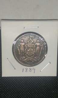 1889 british north borneo one cent 洋元一分