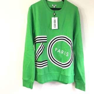全新 Kenzo綠色長衛衣 100%new xL碼 可作裙 大logo 嘔血蝕賣 原價4千 絕對真品 可作寬鬆版長裙