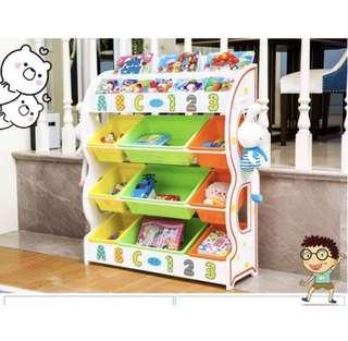 🚚 👉現貨免運👈兒童👶玩具收納書籍收納架幼兒園玩具櫃儲物置物架