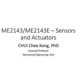 NUS ME2143 Sensors and Actuators