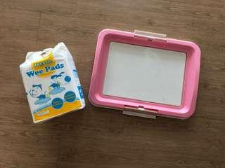 Dog Pee Tray w pee pad