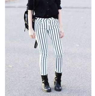 MNG Striped Skinny Jeans