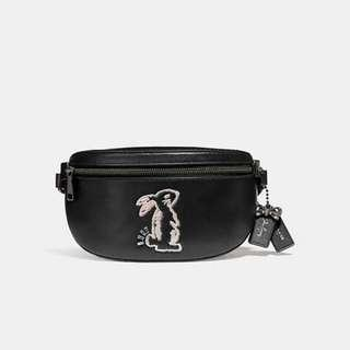 Authentic COACH 39316 Selena Belt Bag With Bunny
