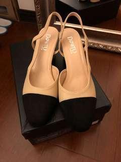 全新|韓國 小香配色淑女跟鞋