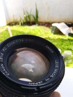 lensa manual canon 50mm f1.4 ssc