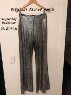 Flared pants- Stretchy fits up to XL