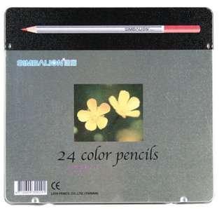【雄獅SIMBALION】塗頭鐵盒色鉛筆C-2400-8/24色/盒