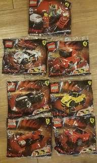 Lego Shell Ferrari Complete Set of 7 New Sealed