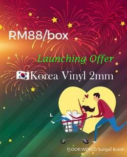 Launching offer Korea Vinyl 2mm