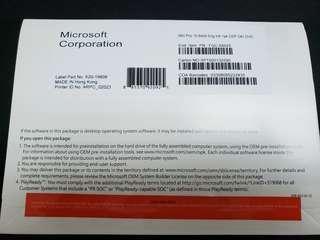 全新未拆Windows Pro 10 專業版 64 bit 原裝正版軟件OEM 英文版 Full Version Win10 正版