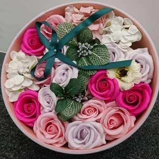 情人節禮物 玫瑰花 香皂花 花盒 女朋友 送禮