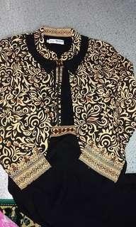 Baju gamis Batik Couple freeongkir