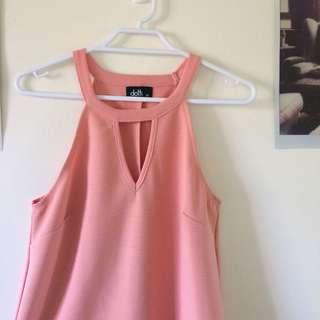 Pink/Coral Sleeveless Top