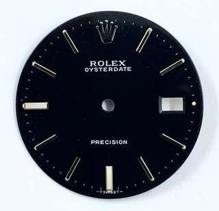 Rolex 6694原裝黑面、配原裝針。