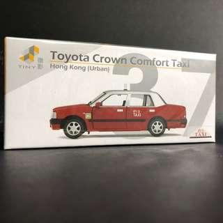 Tiny 37 市區的士 紅的 Taxi 合金車仔