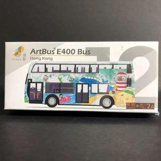 Tiny 12 藝術巴士 ArtBus E400 2A路線 合金車仔